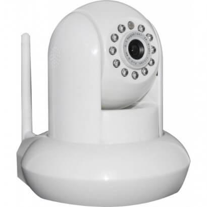 Caméra IP pivotante blanche