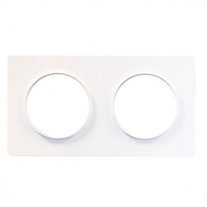 Plaque Double Odace Styl blanc